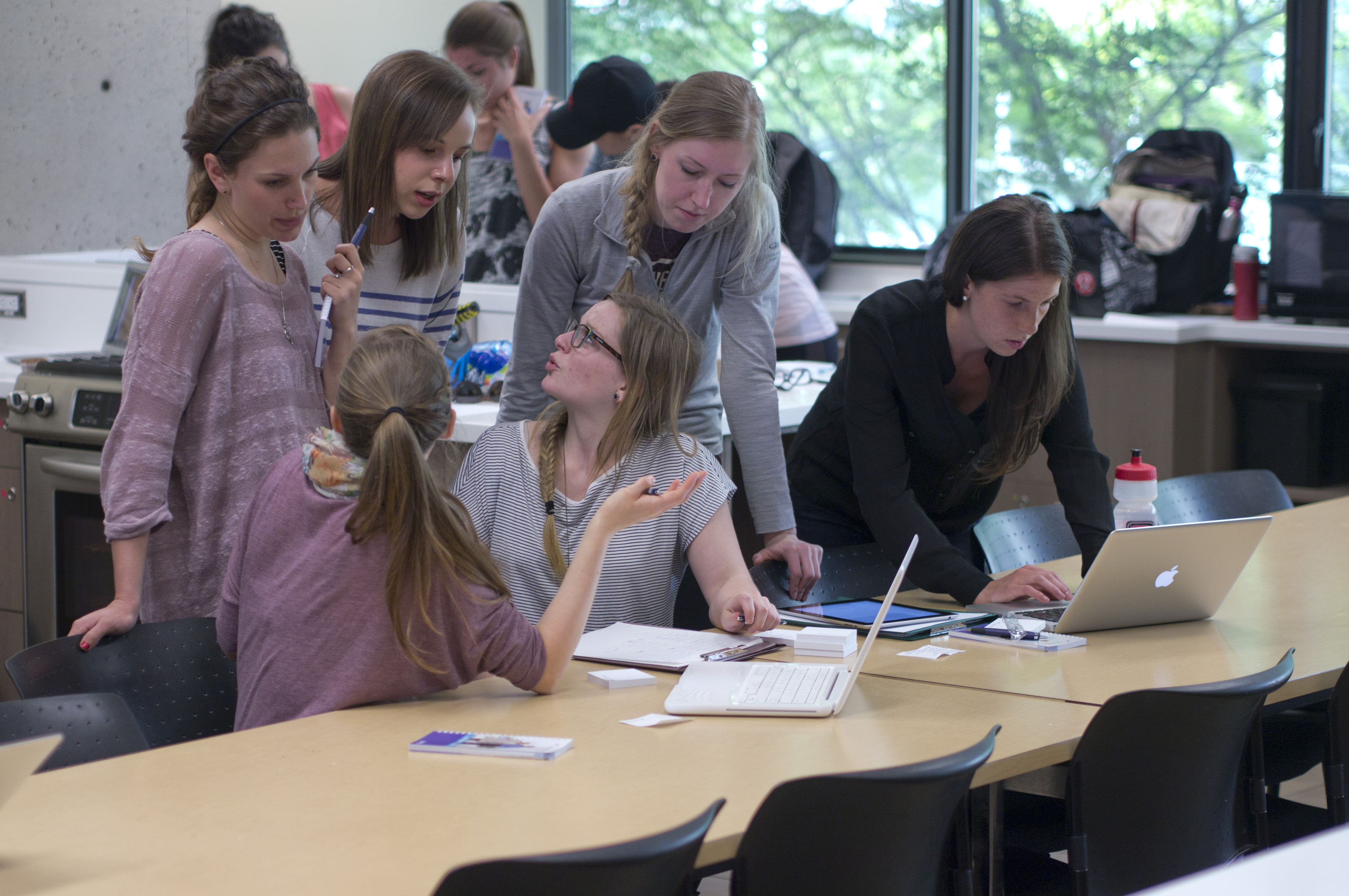Students engaged in discussion